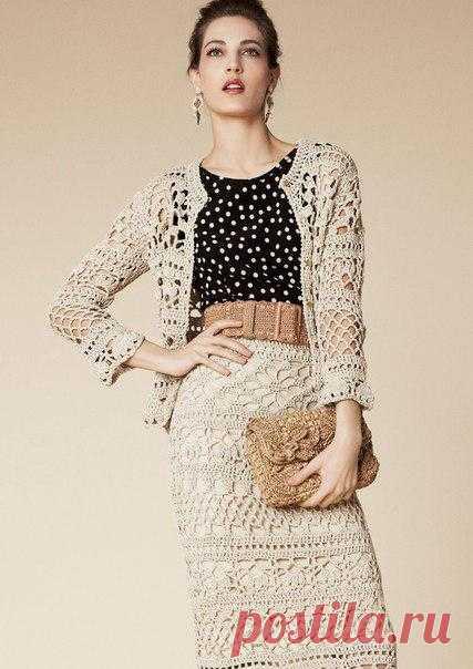 Вяжем костюм из коллекции Dolce & Gabbana 2013.