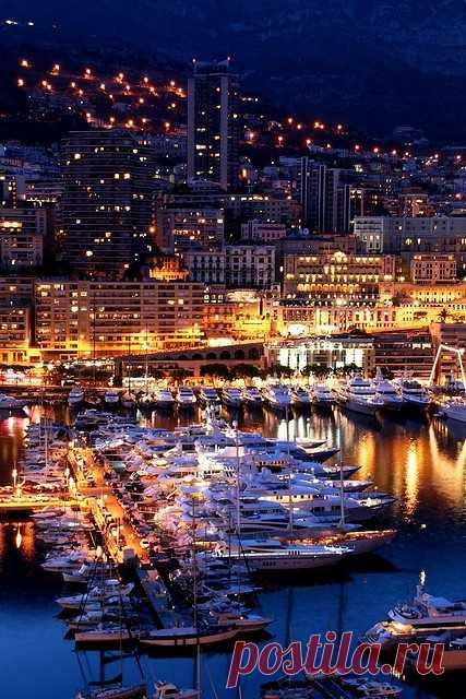 Красота ночного Монако