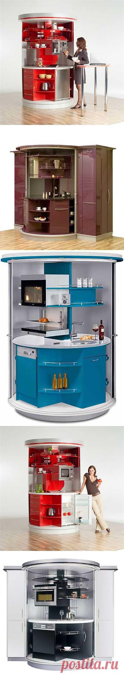 Дизайн вращающейся компактной кухни   Наш уютный дом