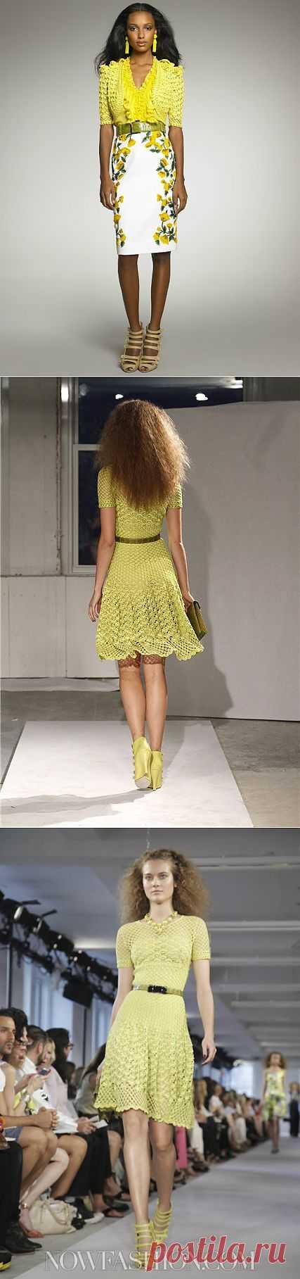 Жакет и платье от Оскар де ла Рента. Есть схема и описание.