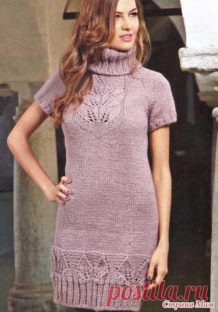 d339ae0abb1 Платье с коротким рукавом регланом снизу - Вязание спицами - Страна ...