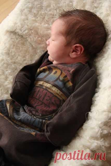 Одежка для грудничка из футболки (Diy) / Для детей / Модный сайт о стильной переделке одежды и интерьера