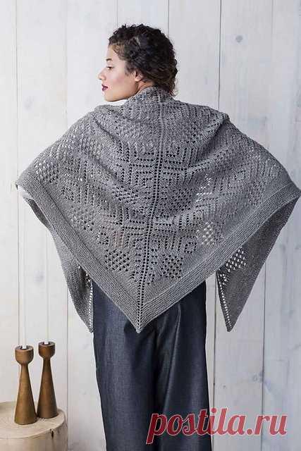 уютное место вязание шали постила