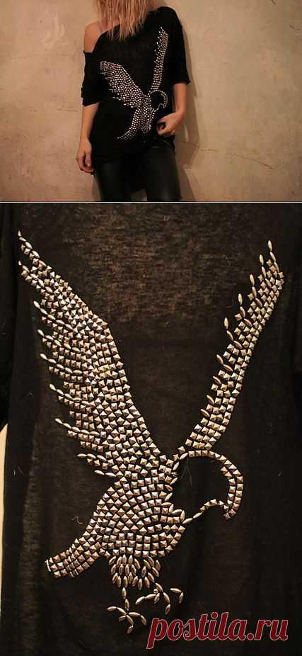Звероконкурс: Майка с орлом / Футболки DIY / Модный сайт о стильной переделке одежды и интерьера