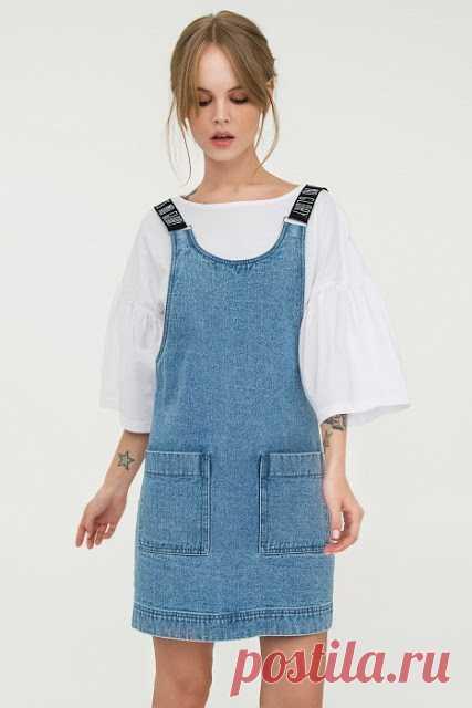 a2695781a5c7a86 Выкройка джинсового сарафана Самым оригинальным и удобным элементом в  женском гардеробе считаются джинсовые сарафаны. Сегодня