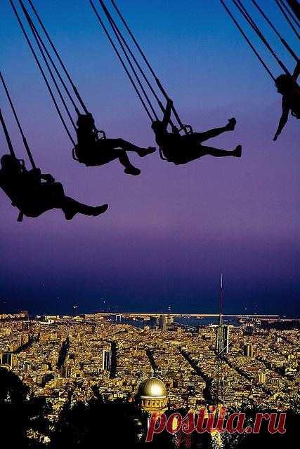 В небе над Барселоной