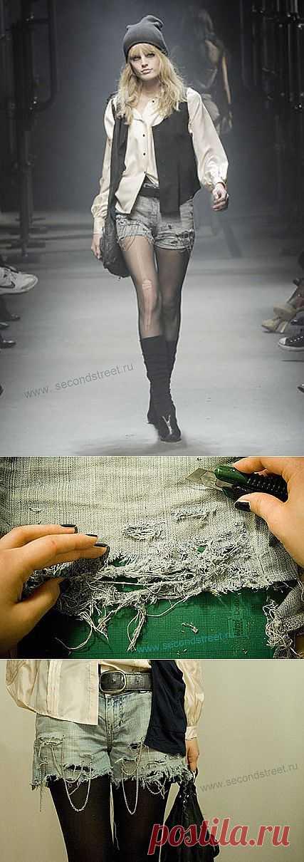 Alexander Wang джинсовые шорты / Шорты / Модный сайт о стильной переделке одежды и интерьера