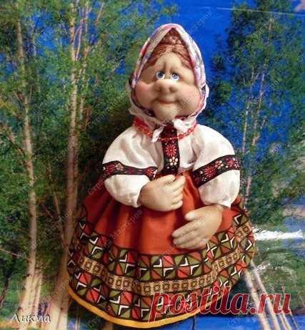 МК маленькой куклы из капронового чулка