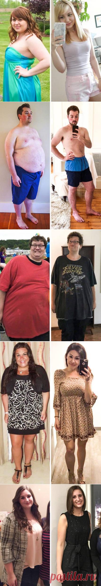 Люди с силой воли, которые решили похудеть и сделали это (22 фото)