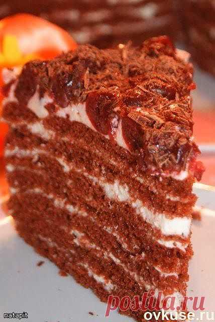 """Торт""""Шоколадно-молочная девочка"""" - Простые рецепты Овкусе.ру"""