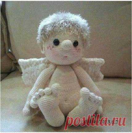#амигуруми #схема #описание #кукла #ангел