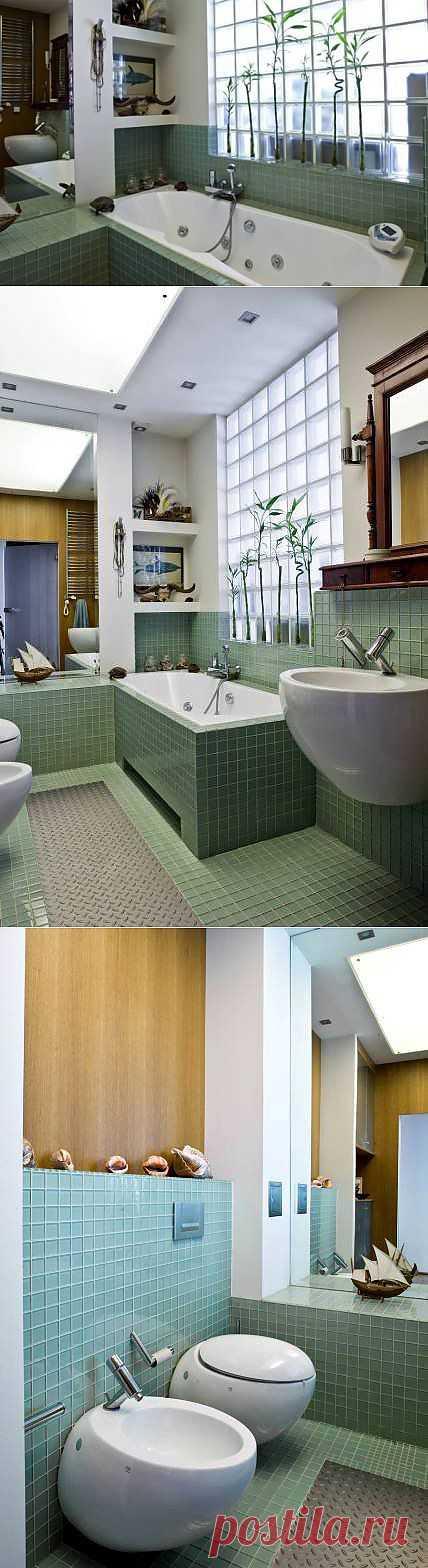 Ложное окно в вашей ванной фото | Дом Мечты