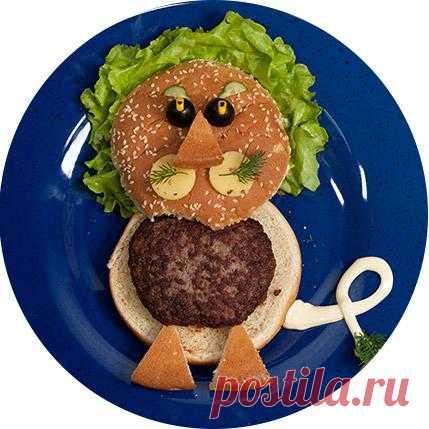 Детский гамбургер «Львенок».