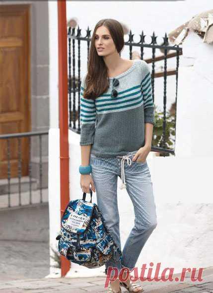Пуловер спицами – Telegraph
