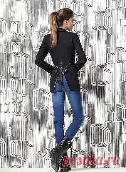 Спинка жакета Denny Rose / Жакеты / Модный сайт о стильной переделке одежды и интерьера