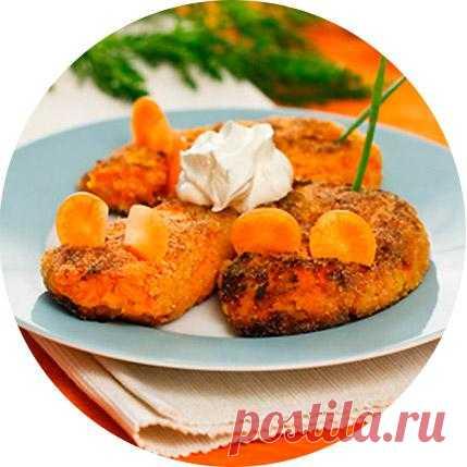 Морковные котлеты со сметаной!