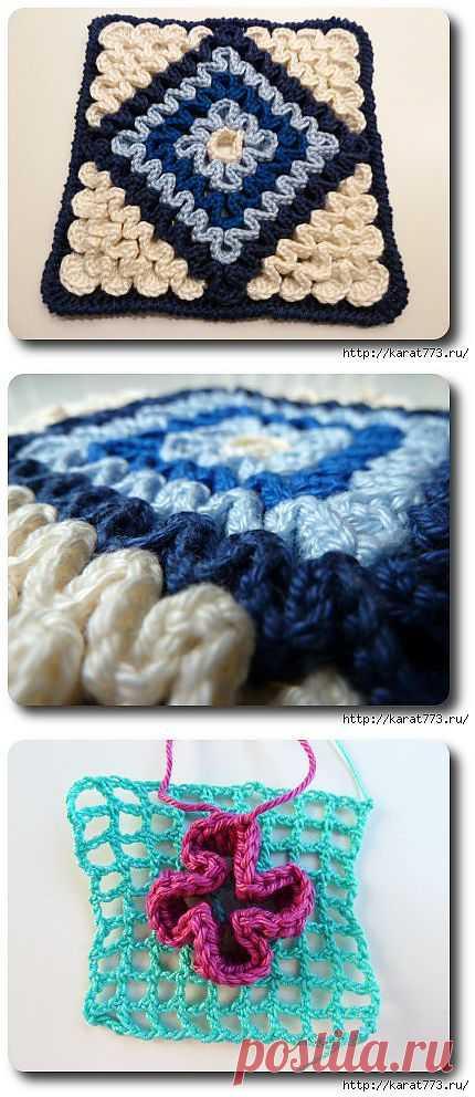 Original knitting by a hook.