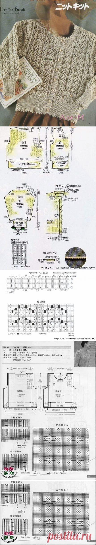 Узоры спицами для кофточек из китайских журналов