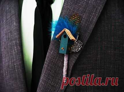Вот такой неожиданый букет- бутоньерка / Креатив в моде / Модный сайт о стильной переделке одежды и интерьера