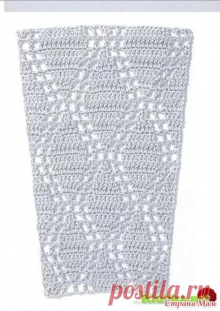 Схемы узоров для расширения полотна, для платьев, юбок и круглой кокетки (крючок) 3 - Вязание - Страна Мам