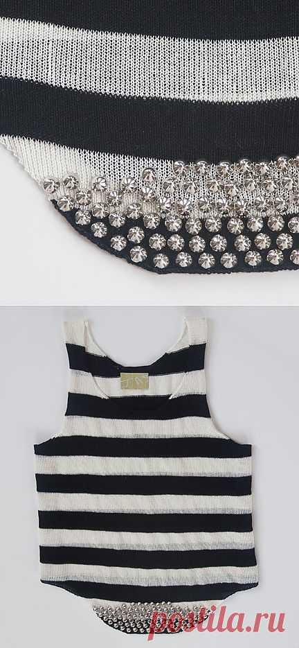 Майка с клепками / Креатив / Модный сайт о стильной переделке одежды и интерьера