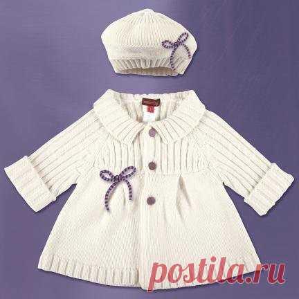 детское пальто спицами для девочки и мальчика модели схемы вязания