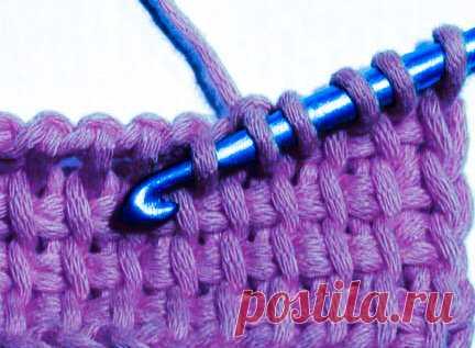 Тунисское вязание крючком, легкий пошаговый старт   Вязание-блог   Яндекс Дзен
