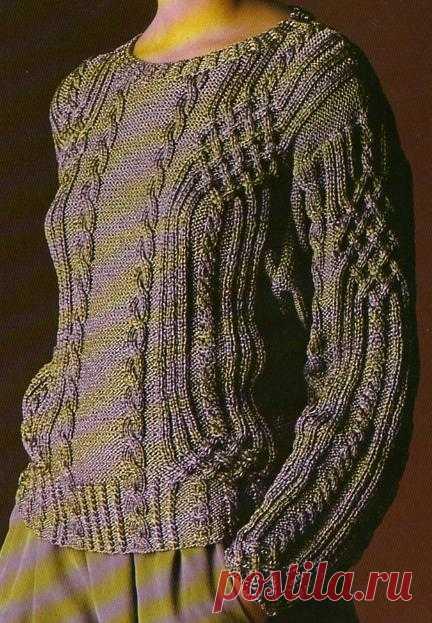 tricot le pull irlandais entrelac la boutique du tricot et des loisirs cr atifs. Black Bedroom Furniture Sets. Home Design Ideas