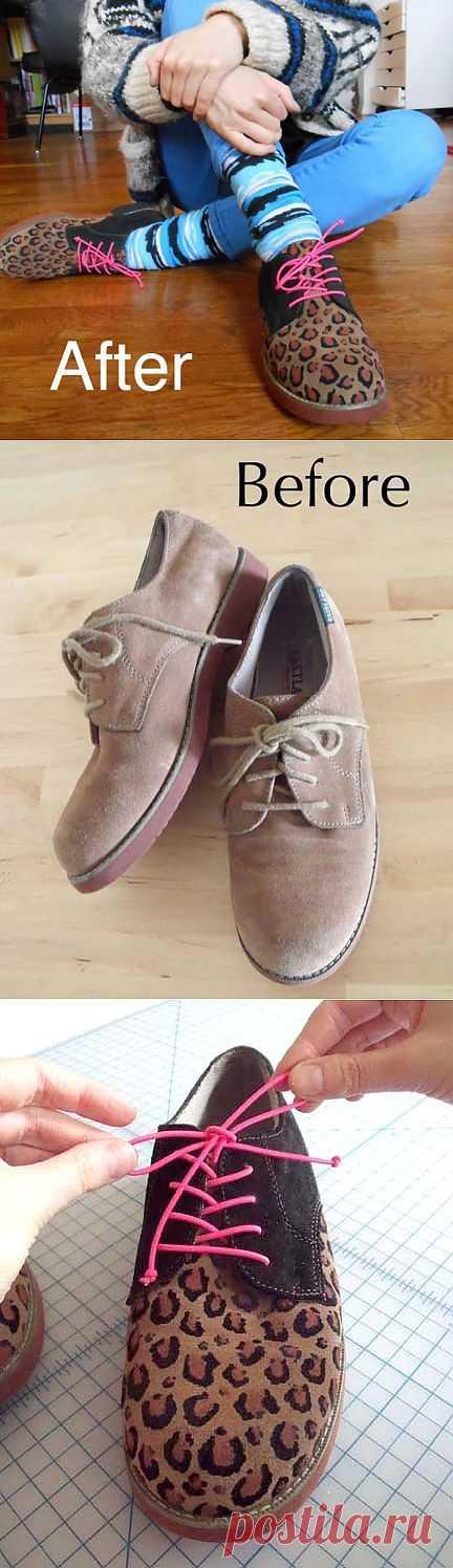 Леопардовые оксфорды (DIY) / Обувь / Модный сайт о стильной переделке одежды и интерьера
