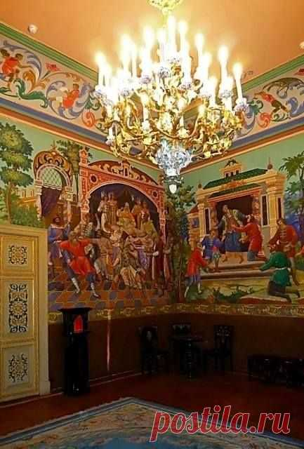 Fairy-Tale Room, Anichkov Palace | the Room of fairy tales in Anichkov Palace \/ Nagi Ademet was kept by Ping on a board of "|433|640|?|en|2|af7352aa0ee1dd6108f3cb21b9d5967c|False|UNLIKELY|0.32329848408699036