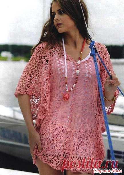 Стильная ажурная вещица на лето (Вязание спицами) – Журнал Вдохновение Рукодельницы