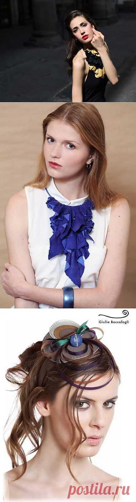 Кожаные украшения Giulia Boccafogli (трафик) / Украшения и бижутерия / Модный сайт о стильной переделке одежды и интерьера