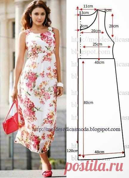 40f7560f6152 Выкройки летних платьев и сарафанов на полную фигуру.   Выкройки ...