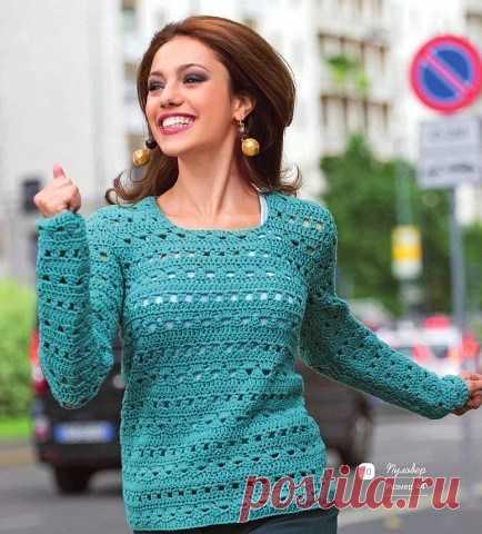 модный летний джемпер для женщин вязание крючком журнал