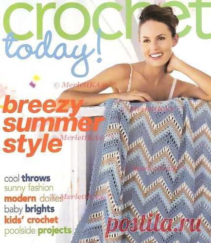 Crochet Today 2007 07 08 салфетка на стену два топа и чехлы на