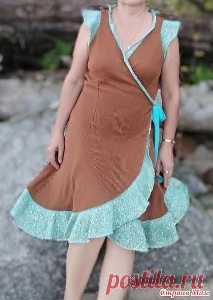 Платье с запАхом + ОПИСАНИЕ - Вязание - Страна Мам
