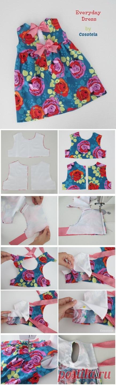 Выкройка летнего платья для девочки. Выкройка платья с пышной юбкой скачать бесплатно | Домоводство для всей семьи.