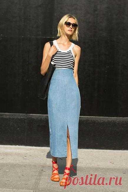 С чем носить джинсовую юбку: советы. Женский интернет-журнал Delafe.ru