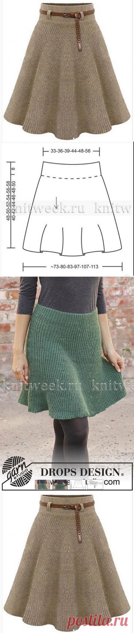 Симпатичная модель женской юбки (Вязание спицами) – Журнал Вдохновение Рукодельницы