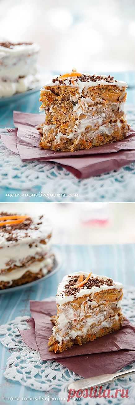 Mon's journal - Морковный пирог с кремом.