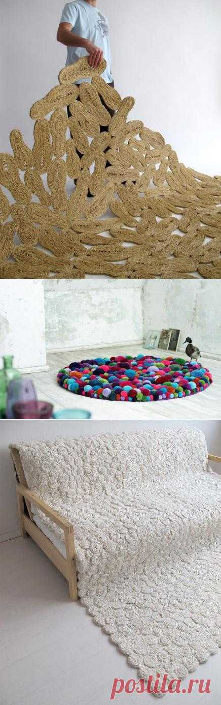 Оригинальные идеи для необычных самодельных ковров.