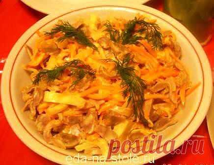 Салат из пупков | Еда на столе