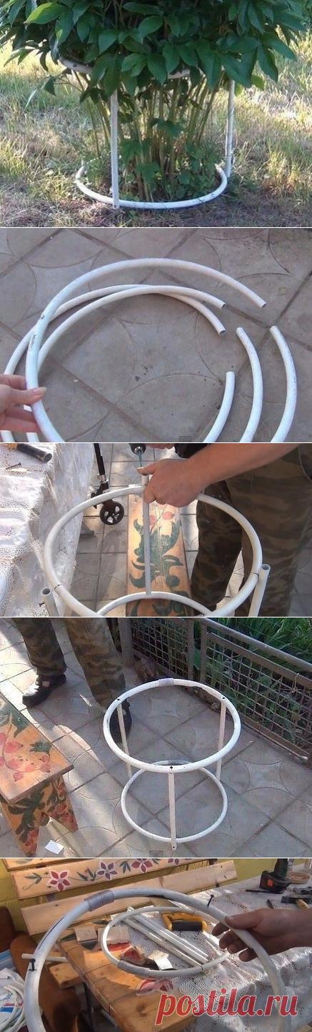 Конструкция для подвязки пионов.