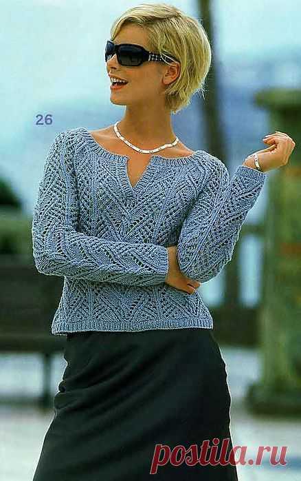 Вязание-спицы Пуловер. Есть описание.