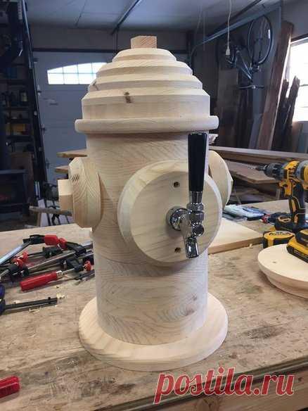 Пожарный гидрант-диспенсер. Автор Артем Юдин #DIY_Идеи