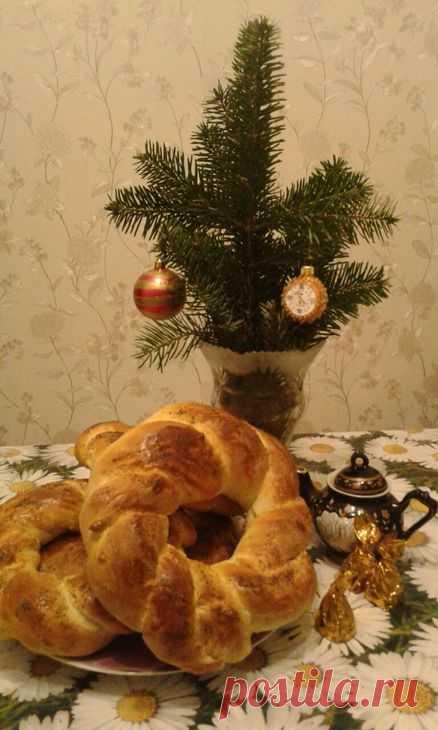 рождественский калач рецепт с фото простая техника плетения