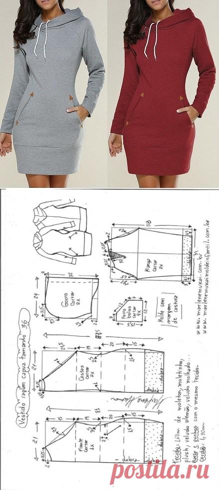 узоры платья из трикотажа фото с выкройками один самых