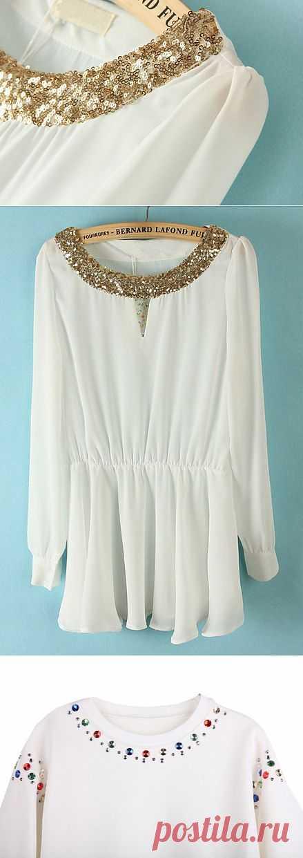 Декор белого (подборка) / Блузки / Модный сайт о стильной переделке одежды и интерьера