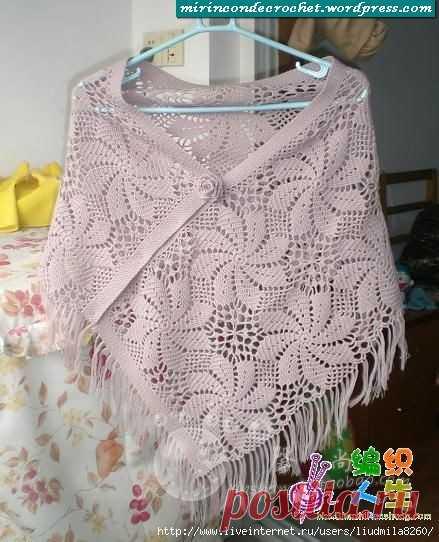 Un poncho con unión de motivos | Mi Rincon de Crochet
