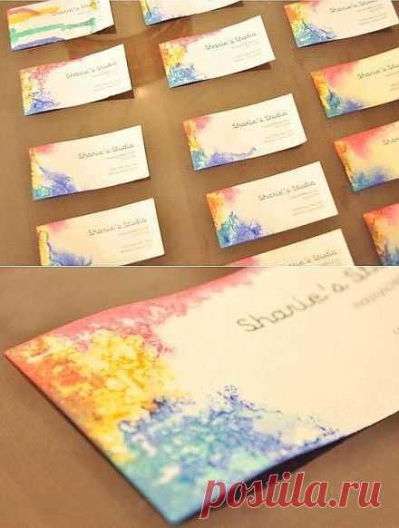 Дизайн визитки своими руками (мастер-класс) / Идеи для бизнеса / Модный сайт о стильной переделке одежды и интерьера